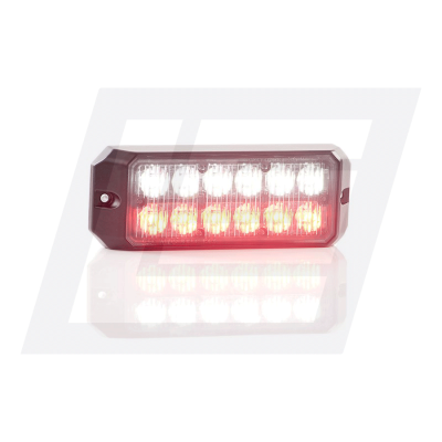 12 LED Red and White Double Module